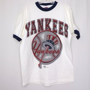 Other - Yankees 1998 Made in USA White Tee with Blue Rim
